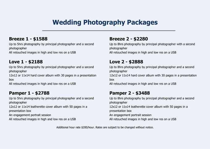 Wedding Photography Package Names: Kelly Photography, Canberra Portrait And Wedding